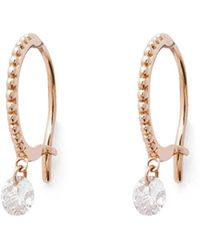 Raphaele Canot - Single Set Free Diamond Beaded Hoop Earrings - Lyst