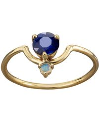 Wwake - Nestled Sapphire And Opal Ring - Lyst