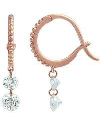 Raphaele Canot - Set Free Mini Hoop Earrings Double Diamond - Lyst