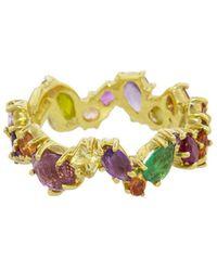 Sharon Khazzam - Multicolored Gemstone Zig Zag Ring - Lyst