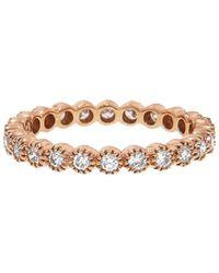 Sethi Couture - White Diamond Bezel Band Ring - Lyst