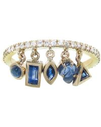 Sharon Khazzam - Shimmee© Ring With Blue Sapphires - Lyst