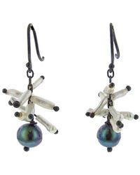 Ten Thousand Things - Black Pearl With Keshi Spike Cluster Earrings - Lyst