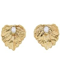 Jordan Askill - Single Leaf Stud Earrings - Lyst