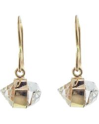 Melissa Joy Manning - Herkimer Diamond Bezel Wrap Drop Earrings - Lyst