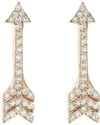 Jennifer Meyer - Diamond Arrow Stud Earrings - Lyst