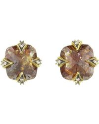 Cathy Waterman - Rustic Diamond Stud Earrings - Lyst