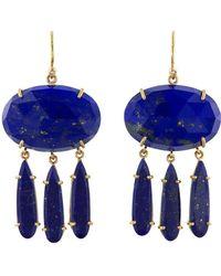Irene Neuwirth - Oval & Pear Lapis Earrings - Lyst