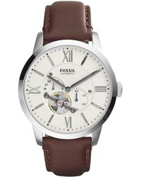 Fossil - Men's Townsman Automatic Leather Watch Me3061 - Lyst