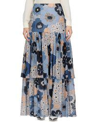 Chloé - Floral-print Cotton-gaufré Maxi Skirt - Lyst