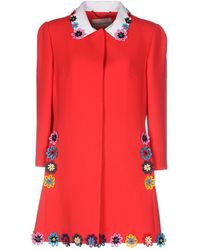 Mary Katrantzou - Mason Floral-appliquéd Wool-crepe Coat - Lyst