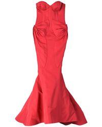 Zac Posen - Long Dress - Lyst