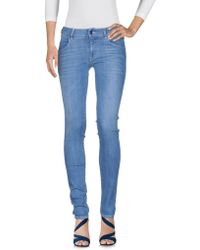 Met - Denim Trousers - Lyst