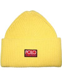 b4e886eef2d Polo Ralph Lauren Rope Cable-knit Hat in Red - Lyst