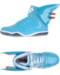 Jeremy Scott for adidas - High-Top Leather Wing Sneakers - Lyst