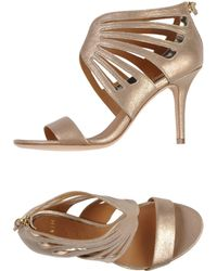 Aerin - Cut-Out Leather Sandals - Lyst