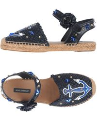 Dolce & Gabbana - Open Espadrillas With Anchor - Lyst