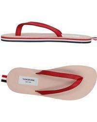 Thom Browne - Striped Tab Flip Flops - Lyst