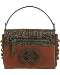 DSquared² - Crock Embossed & Smooth Leather Bag - Lyst