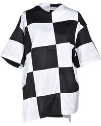 Marques'Almeida - Oversized Checked Cotton-jersey Top - Lyst