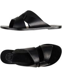 Atp Atelier - Black Allai Leather Sandals - Lyst