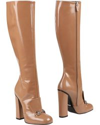 b8aa4dc4f3d Lyst - Women s Gucci Knee boots On Sale