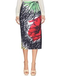 4542fc6590 Women's Boutique Moschino Knee-length skirts Online Sale - Lyst