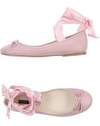 Ralph Lauren Collection - Ballet Flats - Lyst