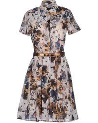 Antipodium Short Dress - Brown