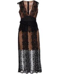NJ COUTURE - 3/4 Length Dress - Lyst