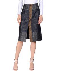 Michael van der Ham - 3/4 Length Skirt - Lyst