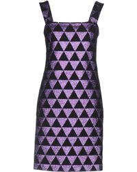 Versus - Glittered Wool-crepe Dress - Lyst