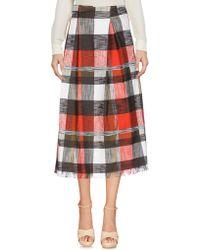 Aglini - 3/4 Length Skirts - Lyst