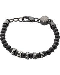 DIESEL - 'zipper' Bracelet - Lyst