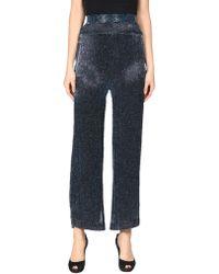 516dfec61b166 Rodarte Leather Pants With Lace Details in Black - Lyst