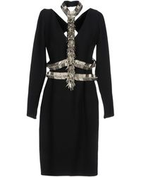 Versace - Vestito al ginocchio - Lyst