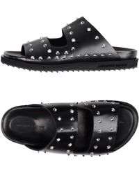 Lyst Mid Lace Sandals Up In Mcqueen Alexander Top Black Leather WHYDeE29I