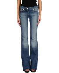 Saint Laurent - Denim Trousers - Lyst