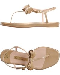 Gina - Bow Patent Sandals - Lyst