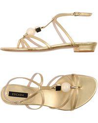 ESCADA | Toe Strap Sandal | Lyst