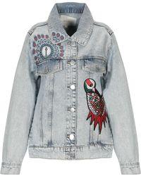 Maje - Capospalla jeans - Lyst