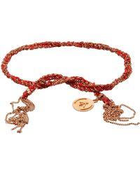 Carolina Bucci - Red Gold Lucky Tie Bracelet - Lyst