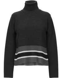 4daf85221c4b9d Herno Chunky Knit Jumper in Gray - Lyst