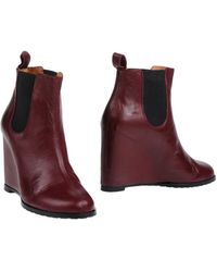Minimarket - Leather Wedge Ankle Boots - Lyst