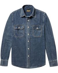 Jean Shop - Kevin Slim-fit Denim Shirt - Lyst
