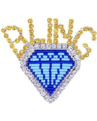 Shourouk - Emojibling Diamond Brooch - Lyst