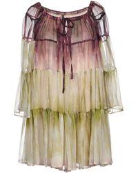 Plein Sud - Short Dress - Lyst