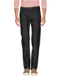 Poeme Bohemien - Denim Trousers - Lyst