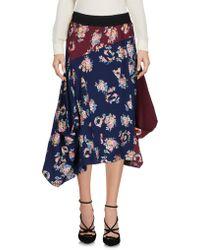 Nicopanda   Printed Asymmetric Cotton-jersey Skirt   Lyst