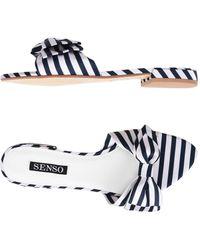 Senso - Zilda Ii Slides - Midnight Stripe Print - Lyst